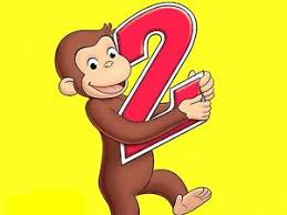 curious george cake topper curious george 2 year birthday party frosting cake topper 1 4