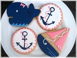 anchor theme baby shower sunflower baking cookies baby showers baby basket cookie