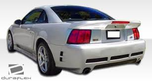99 mustang bumper 99 04 ford mustang duraflex colt rear bumper 1pc kit 102079