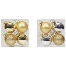 buy the 12ct mini gold silver ornaments by celebrate it at