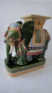 elephant end tables ceramic vintage elephant chinoiserie table garden stool 19 h x 18 d 250