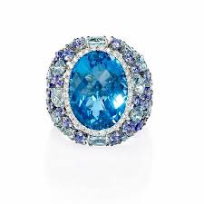 tanzanite blue rings images 19ct diamond tanzanite blue topaz and aquamarine 18k white gold ring jpg