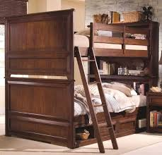 Bunk Beds With Bookcase Headboards Good Bunk Bed With Shelf Headboard 90 On Leather Headboards For