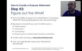 how to write a purpose statement for my dissertation youtube