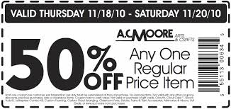 ac moore coupon code october 2015