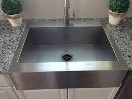 Resin Kitchen Sinks Small Stainless Steel Top Mount Farmhouse Kitchen Sink On Granite
