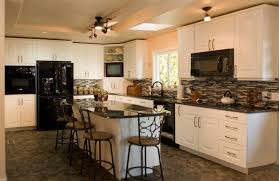 kitchens with white cabinets and black appliances kitchen white cabinets in kitchen with black liances how to