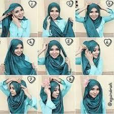 tutorial hijab noura jilbab segiempat tutorial hijab pinterest hijab tutorial