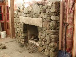 fieldstone fireplace with granite lintel u0026 hearth contractortalk