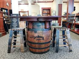 whiskey barrel table for sale unique jack daniels furniture with jack daniels whiskey barrel table