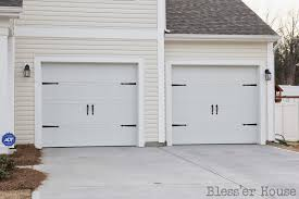 garage door house project diy carriage doors bless u0027er house
