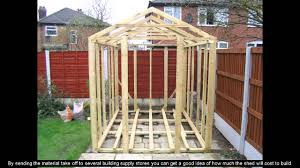 Backyard Sheds Plans by 8 X 10 Shed Plans Youtube