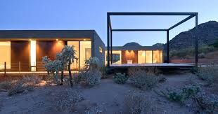 desert landscaping ideas exterior modern with recessed lighting