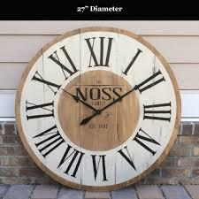 Large Wall Clocks by 36 Lanier Rustic Wood Wall Clock Wall Clocks Decoration