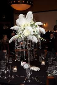 Wedding Feathers Centerpieces by Great Gatsby Martini Glass Centerpiece With Ostrich Plumes