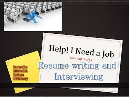 I Need A Resume Help I Need A Job
