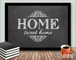 Welcome Home Decor Home Sweet Home Printable Art Wall Decorwelcome