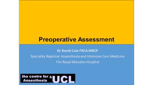 dr david cain frca mrcp speciality registrar anaesthesia and