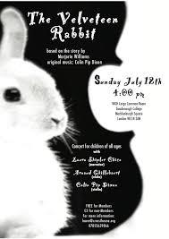 rabbit poster velveteen rabbit poster 9 colin pip dixon