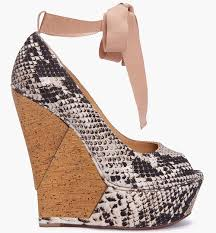 ribbon wedges rowland in lanvin escarpin snakeskin print wedges upscalehype