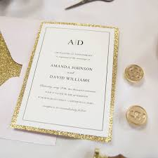 wedding invitations glitter gold glitter wedding invitations glittery wedding invitations
