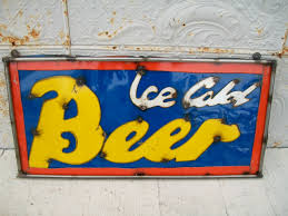 rustic metal ice cold beer signs decorative tavern wall art