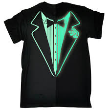 glow in the dark tuxedo men u0027s t shirt birthday cocktail party