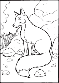 free printable fox coloring pages for kids for itgod me