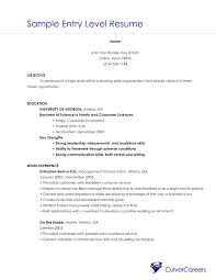 Resume Sles Objective Resume Objective Entry Level Berathen
