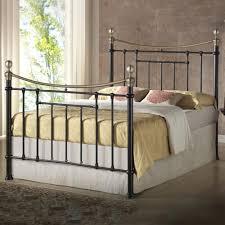 birlea bronte victorian style black king size metal bed frame