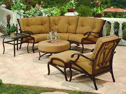 outdoor table sets sale volare collection cast aluminum outdoor sofa group cushioned patio