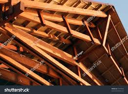 Wood Framing Details Stock Photo Wooden Roof Construction Frame House Floor Joists Construction