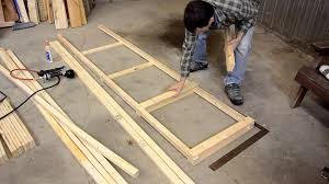 Woodworking Plans Free Standing Shelves by Building A Big Garage Shelf Youtube