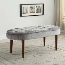 Grey Bedroom Bench Upholstered Bedroom Bench Foter