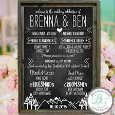 wedding program chalkboard items similar to rustic wedding program chalkboard sign 24 x 36