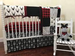 Plaid Crib Bedding Baby Boy Bedding Set Adrian Deer Baby Bedding Buffalo