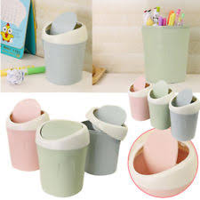Small Desktop Trash Can Unbranded Plastic Waste Bins U0026 Dustbins Swing With Lid Ebay
