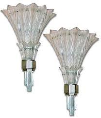 Art Glass Sconces Art Deco Glass Popular 1920s And 1930s Glass Designs