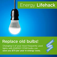 Led Light Bulb Cost Savings by Energy Efficient Light Bulbs Lifesize Brightgreen Articles