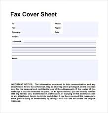 sample personal fax cover sheet 11 examples format