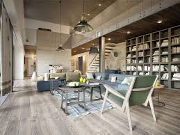 apartment with industrial inspired concrete wall panels best