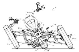 harley davidson leaning trike patent application