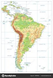 South America Map Physical by South America Physical Map Isolated On White U2014 Stock Vector
