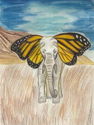 butterfly elephant by arejka on deviantart