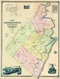 Virginia Map Counties by Maps Of Old Virginia And Jefferson County West Virginia