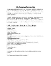 human resources curriculum vitae template hr resume template