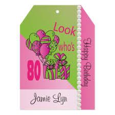 happy 80th birthday invitations u0026 announcements zazzle