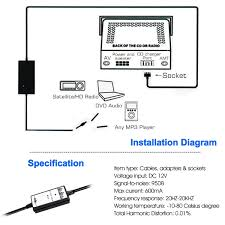 lexus gx470 turn signal socket car auto audio mp3 player interface aux in adapter cable for lexus