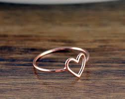 heart ring heart ring etsy