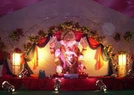 Stage Decoration Ideas Ganesh Chaturthi Decoration Ideas For Home Mandap